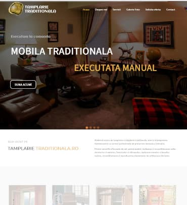 Site de prezentare Mobila traditionala executata manual